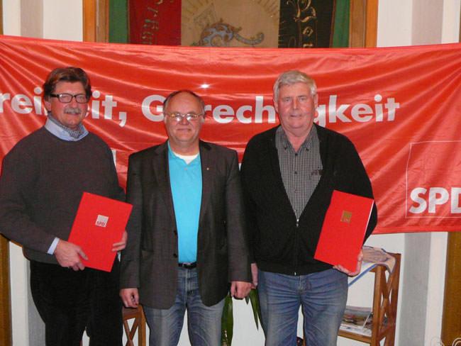 Die Borkumer SPD ehrt langjährige Mitglieder