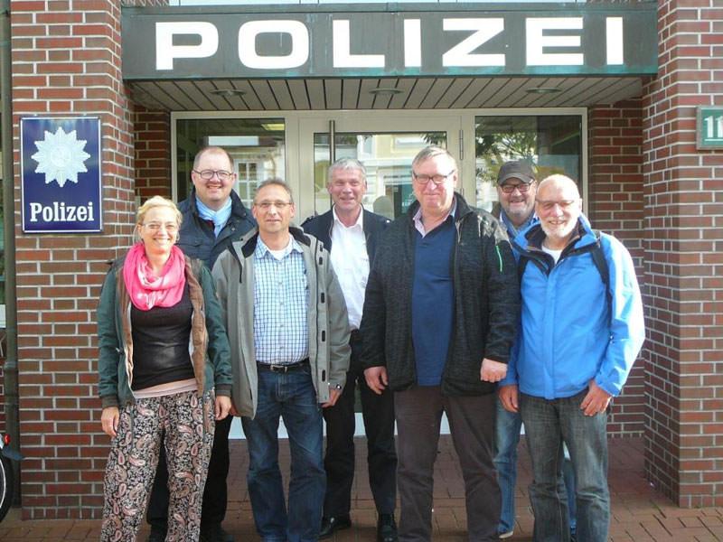 SPD-Fraktion zu Besuch bei der Borkumer Polizei