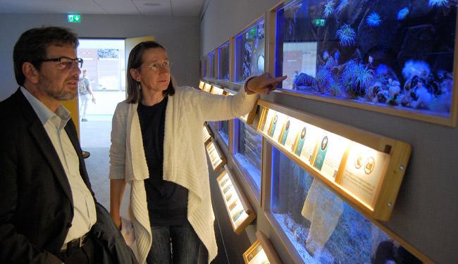 Paschke besucht Aquarium
