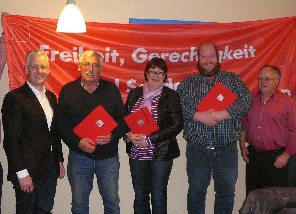 Matthias Groote, Wilhelm Hedden, Inga Fisser, Albertus Akkermann und Jürgen Müller