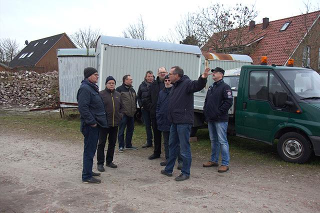 SPD-Fraktion informiert sich über den Neubau des städt. Bauhofes