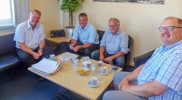 Johann Saathoff (MdB) zu Besuch beim Bürgermeister