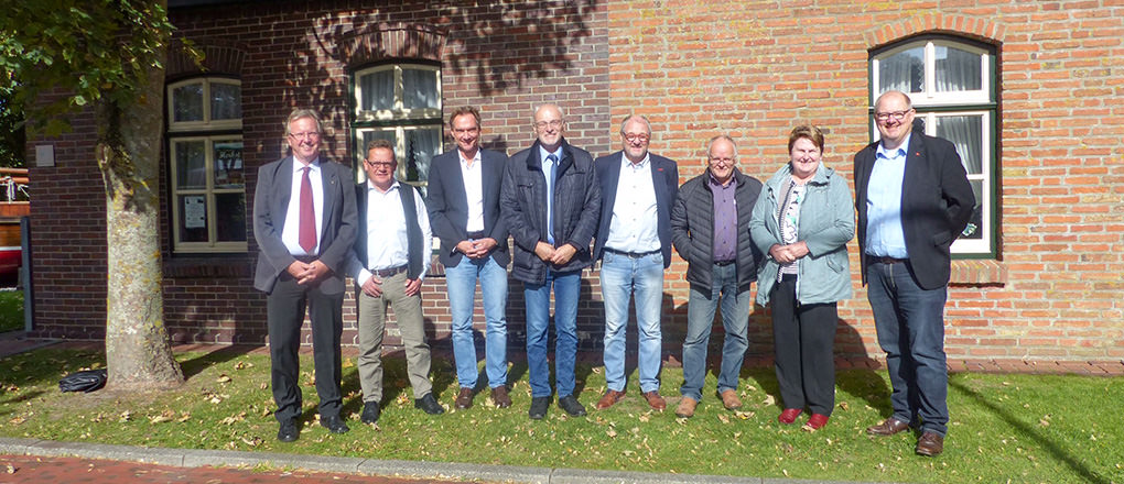 J. Modder mit Franz-Josef Sickelmann zu Besuch auf Borkum