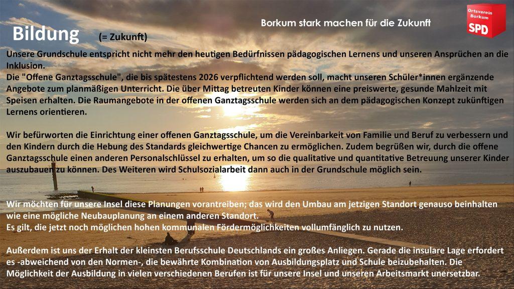 SPD Borkum - Bildung