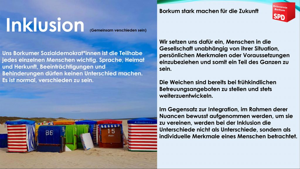 SPD Borkum - Inklusion