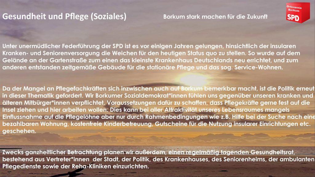 SPD Borkum - Soziales
