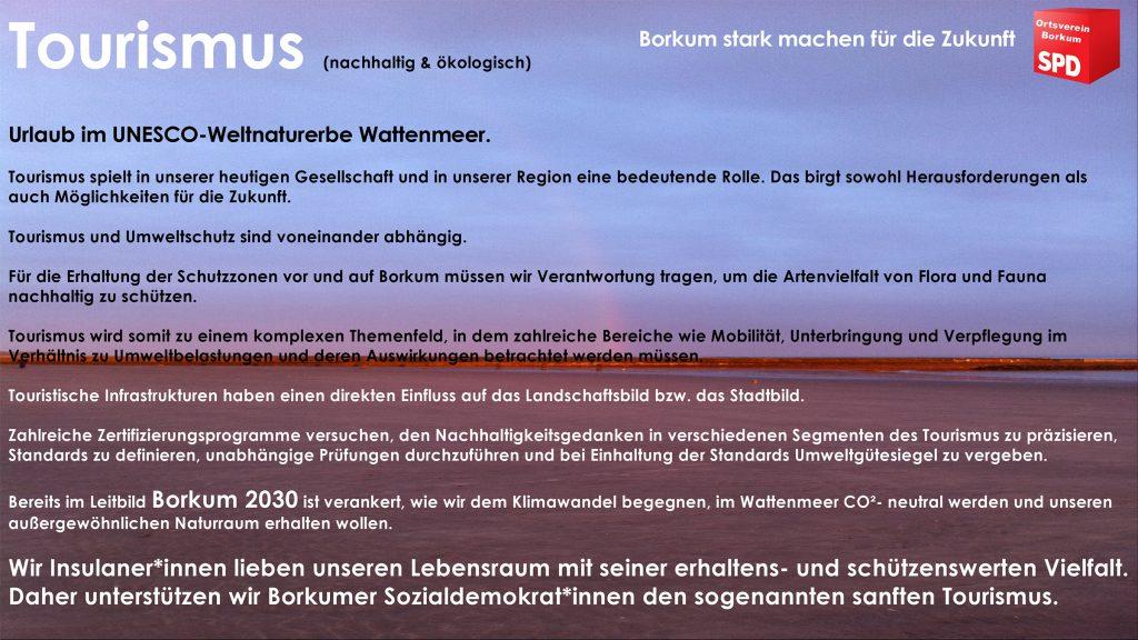 SPD Borkum - Tourismus