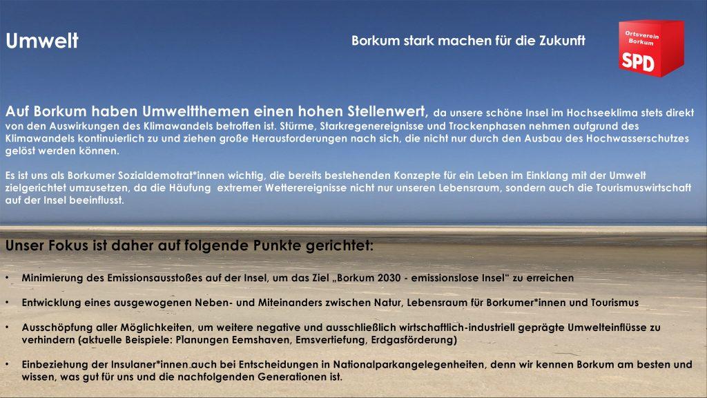 SPD Borkum - Umwelt